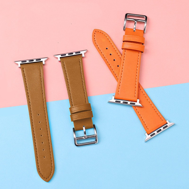 applewatch ราคาส่ง!!สายสำหรับ Apple watch ทุกSeries6 SE 5/4/3/2/1 สายหนัง (Leather Band)