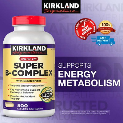 ***แท้&ถูกสุดๆ***Kirkland Signature Super B-Complex, 500 Tablets