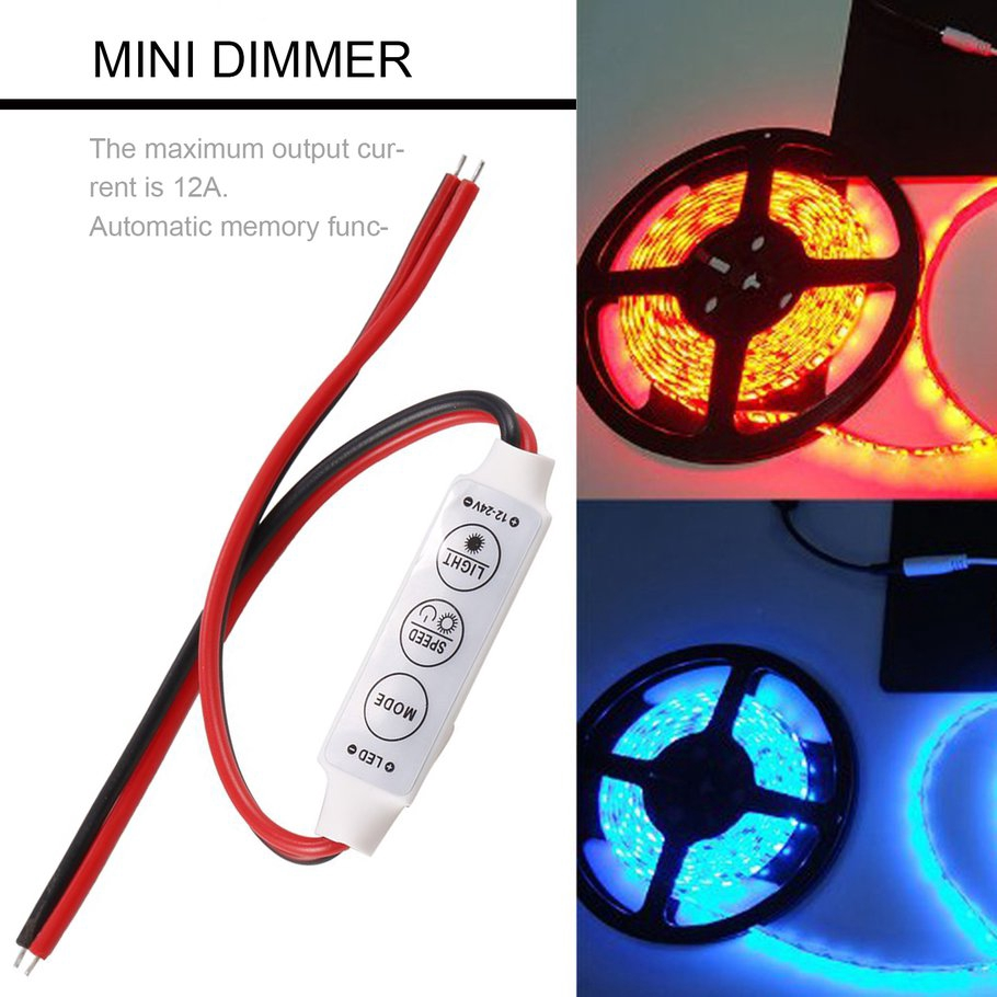 12V 5A Mini LED Dimmer Controller For Single Color 3528 5050 LED Strip Light
