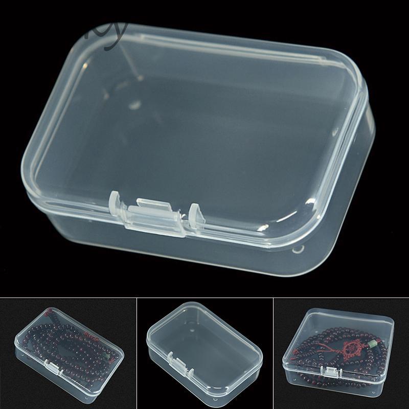 5Pcs Mini Clear Plastic Small Box Jewelry Earplugs Container Storage Box/%#