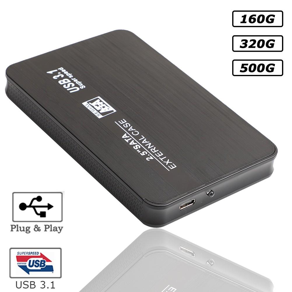 160GB/320GB/500GB External Hard Drive HDD USB3.0 Disk SATA Laptop Desktop