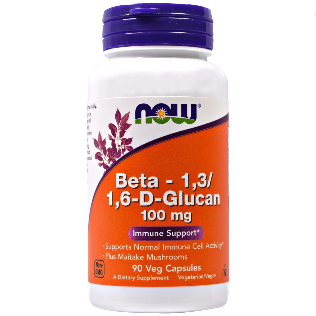 พร้อมส่ง!!! Now Foods, Beta-1,3/1,6-D-Glucan, 100 mg, 90 Veggie Caps