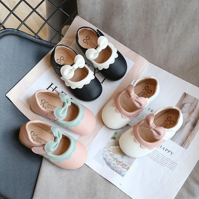 (💕มีในสต็อก) รองเท้าเด็กผู้หญิง รองเท้าคัชชูหัวมนสาวเกาหลี รองเท้าเจ้าหญิง