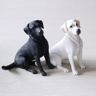 Fashion Vehicle Handicraft Collection Simulated Animal Labrador Dog Model New Figurines Miniatures Dog Models Decoration