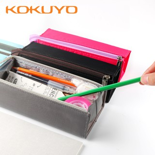 Blue Cute Pencil Case Pencil Case Korean Small Fresh Large Capacity Pen Box Student Student Stationery Bag Pencil Bag