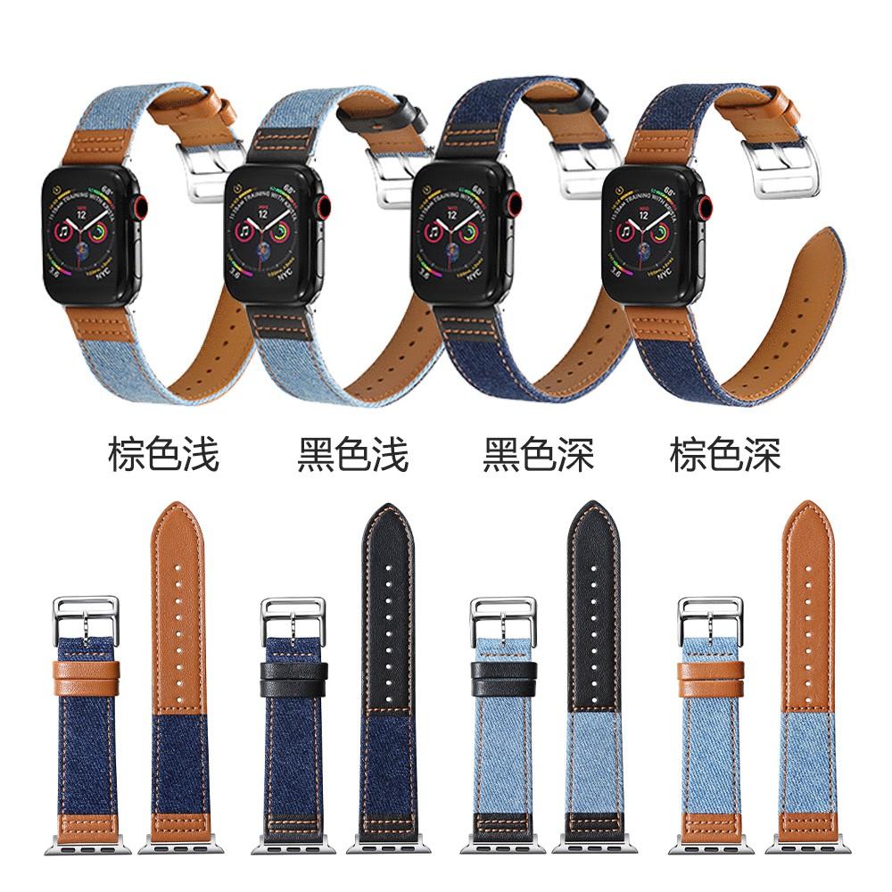 เคสนาฬิกา applewatchสายนาฬิกาหนังแท้สำหรับ Appleiwatchสายหนังผ้าใบapple watchสีตี6รุ่นapplewatch