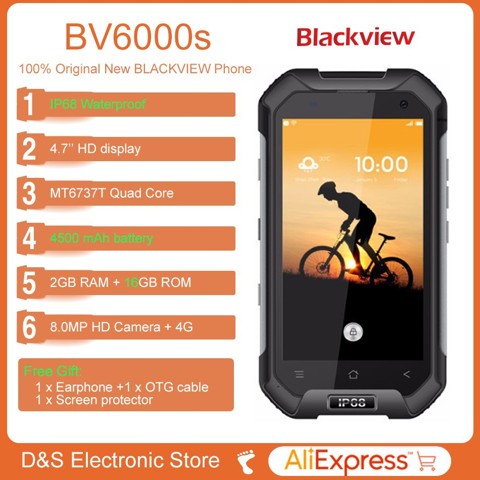 BLACKVIEW BV6000S Android 6 0 Smartphone with 2GB+16GB ROM | Shopee
