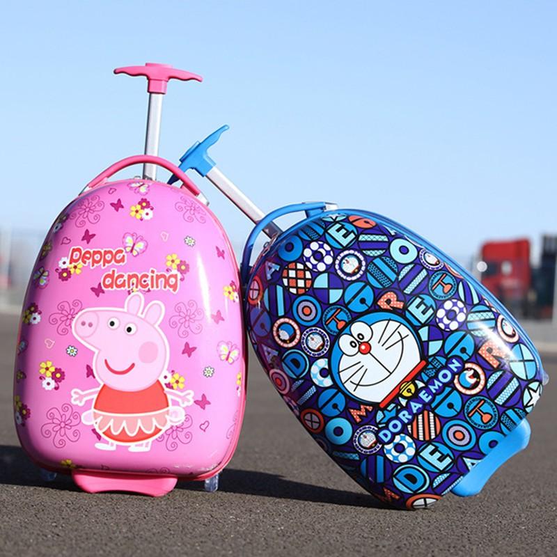 ☤ャกระเป๋าเดินทางเด็ก  กระเป๋ารถเข็นเดินทางรถเข็นเด็กกรณีเจ้าหญิงหญิงการ์ตูน 18 นิ้วเด็กหนังกระเป๋าเดินทางเด็กเดินทางรหัส