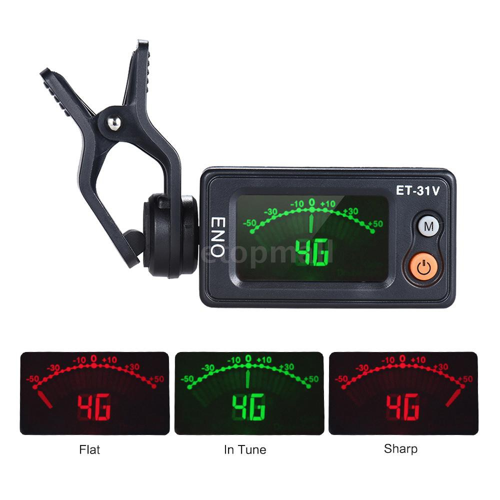 ? eno ET-31V Multi-function Clip-on Tuner Automatic Tuning Mode for Violin  Vi