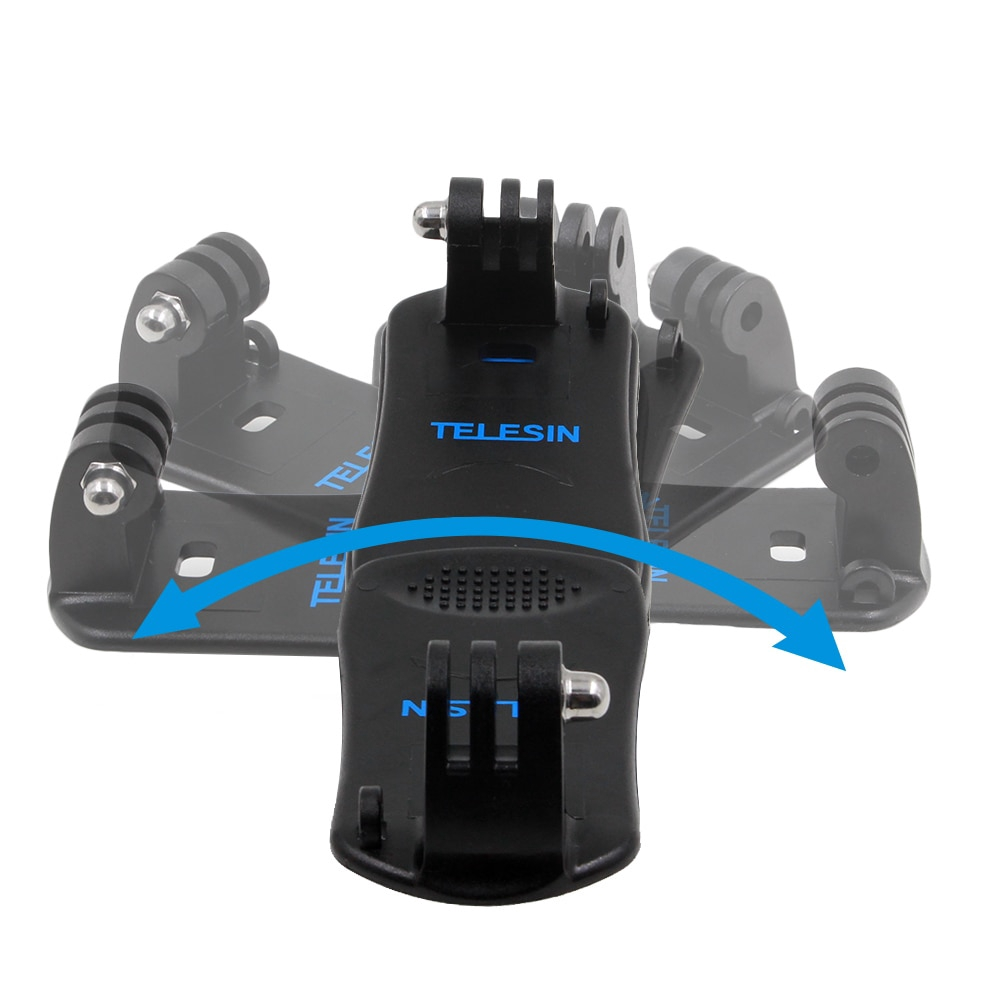 TELESIN 360 Degree Swivel Backpack Clip Mount with Frame Mount Adapter for Polaroid Cube and Cube+