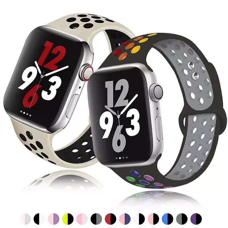 ♗สาย Apple Watch  Sport Band for Series 1,2,3,4,5,6 Nike 1/2/3/4/5/6