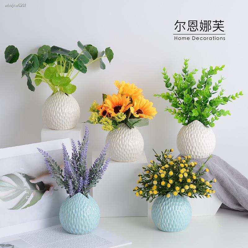 การจำลองพันธุ์ไม้อวบน้ำ✌❀☾หัวกระเทียมจำลองปลอมหญ้าพืชตกแต่งกระถางต้นไม้สีเขียวตกแต่ง ins ดอกไม้ปลอม bonsai ห้องนั่งเล่นต