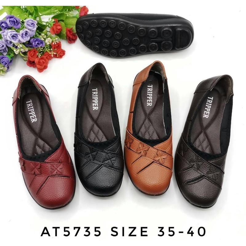 รองเท้าคัชชูเพื่อสุขภาพผู้ใหญ่#คัชชูส้นเตี้ย AT5735