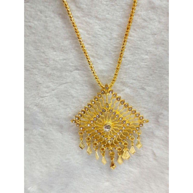 สร้อยคอ เครื่องประดับชุดไทย สร้อยชุดไทย ราคาถูกสีทอง