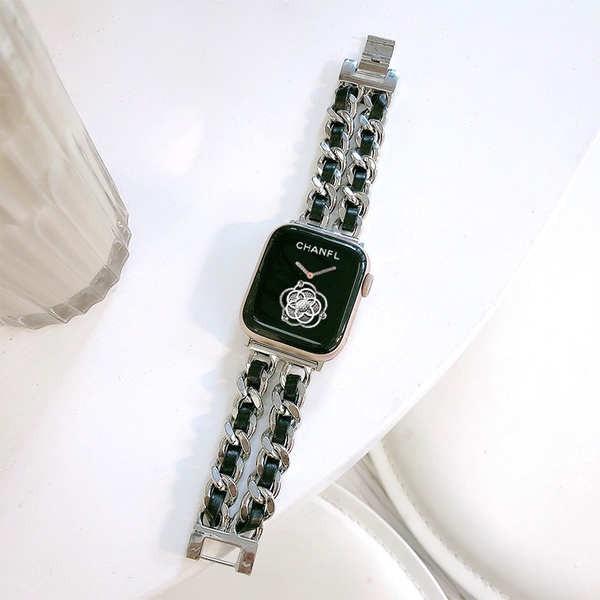 สาย applewatch สายรัด applewatch ที่ใช้งานได้โลหะ se65iwatch กลิ่นหอมขนาดเล็กสายนาฬิกา Apple แนวโน้มบุคลิกภาพ