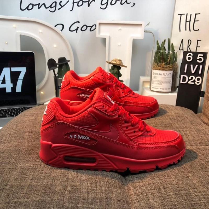 ต้นฉบับ Nike Air Max 90 Continental Halffoot Platform Designated Men's Shoes Women's Shoes Runner Shoes