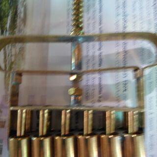 ที่กดเม็ดบัวลอยทองเหลืองแท้12เม็ดปรับระดับ