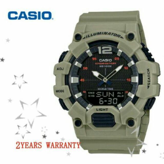 [2 ปีรับประกัน] ต้นฉบับ Casio HDC-700-3A3V Men Youth Digital Analogy Sports