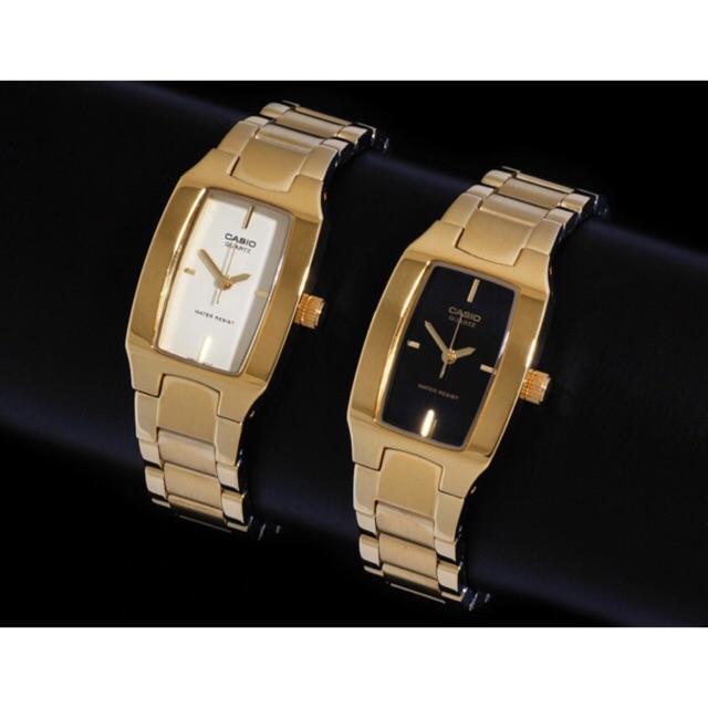Casio นาฬิกาข้อมือผู้หญิง สายสแตนเลสสีทอง รุ่น  LTP-1165N-1C ทองหน้าดำ LTP-1165N-9C ทอง รับประกันศูนย์เซ็นทรัลCMG1 ปีค่ะ