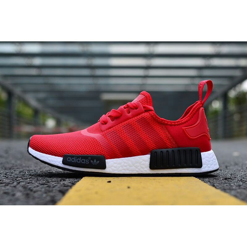 Adidas Adidas NMD_R1 ป๊อปคอร์นผสมสีแดงด้านล่าง