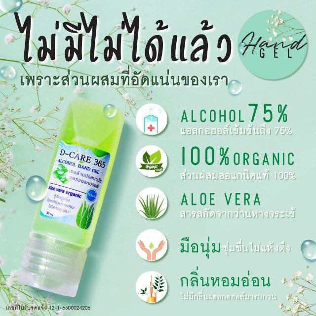 เจลล้างมือขนาดพกพาสูตรOrganic แอลกอฮอล์75%v/v ผ่าน อย. มั่นใจความปลอดภัย ไร้สารเคมี ใช้กับเด็กเล็กได้
