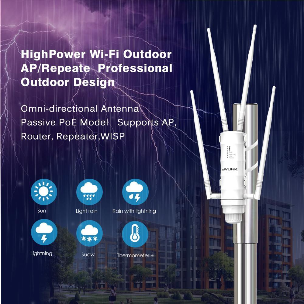 Wavlink AC600 High Power WIFI Router//AP Repeater Dual Dand 2.4//5Ghz Antenna POE