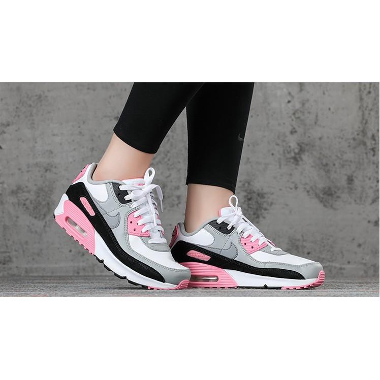 Original 2020New Nike Air Max 90 Air cushion (30th anniversary) Women's White/Grey/Pink Sports shoes