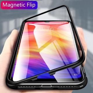 Review Magnetic FlipCase Xiaomi Redmi Note 7 8 Pro K30 K20 Pro Mi 9T Redmi 7A Clear Tempered Glass Hard Back Cover