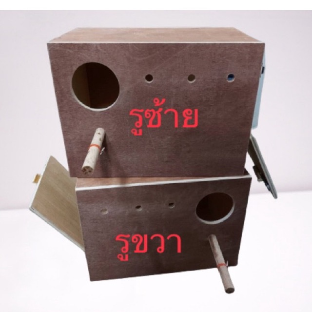 กล่องนกซันคอร์นัว กล่องเพาะนก บ้านนกไม้