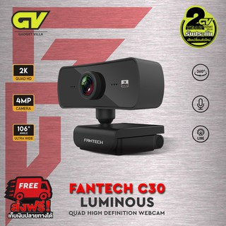 FANTECH WEBCAM LUMINOUS C30 1440P 2K QUAD HD USB Web Camera Webcam With Built-In Microphone