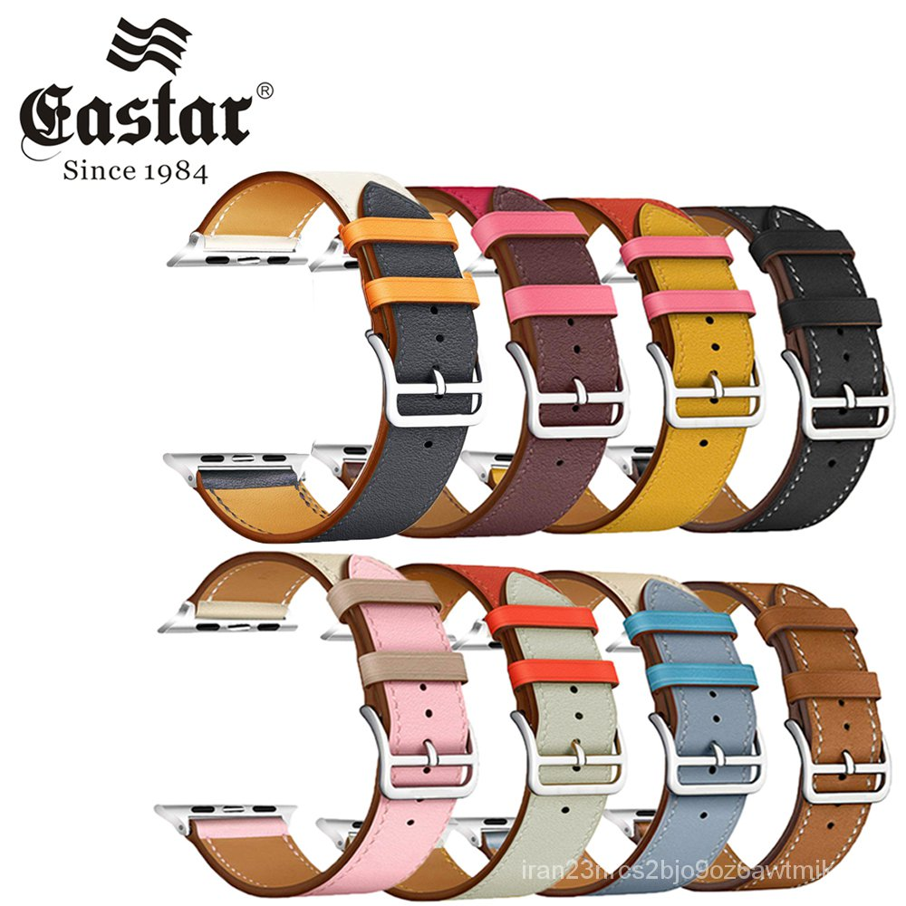 Eastar Colorful Leather loop for Apple Watch Band Series 6/SE/3/2/1 Sport Bracelet 42mm 38mm Strap for iwatch 4/5 Band 4