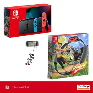Nintendo Switch Maxsoft Promotion Set Ready to Ring Fit #1 เครื่องเกมนินเทนโดสวิทซ์ พร้อมริงฟิต สินค้