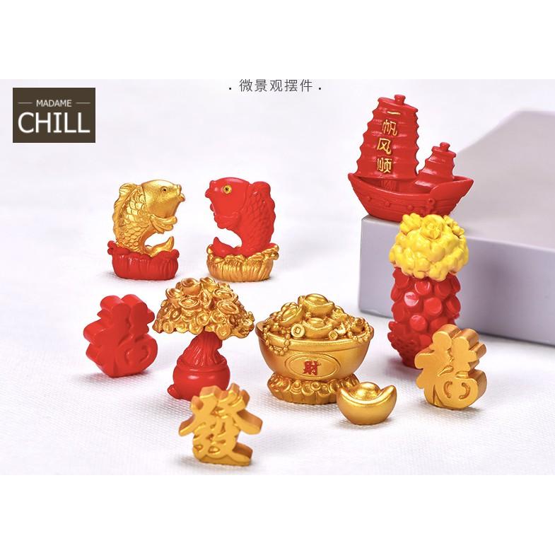 [MC868] ตุ๊กตุ่นจิ๋ว ทอง เสริมไว้ ปังปังจ้า (1 ชิ้น ราคา 10, 15 บาท)