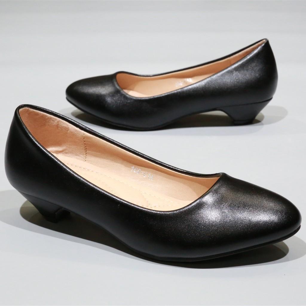 รองเท้าผู้หญิง รองเท้าส้นสูง 168-C1,C1A,C1B  รองเท้าคัชชูนักศึกษา รองเท้าคัชชูสีดำ 1.5 นิ้ว Fairy