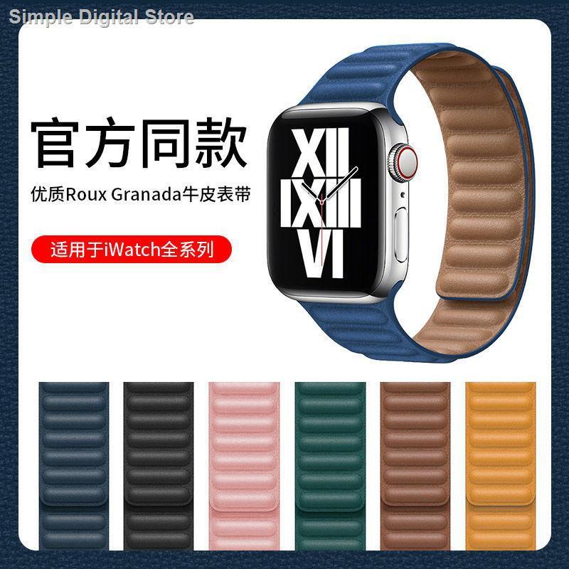 【อุปกรณ์เสริมของ applewatch】✺✧❦บังคับ applewatch สายแม่เหล็กสายหนังสาย iwatch SE654321 สาย apple