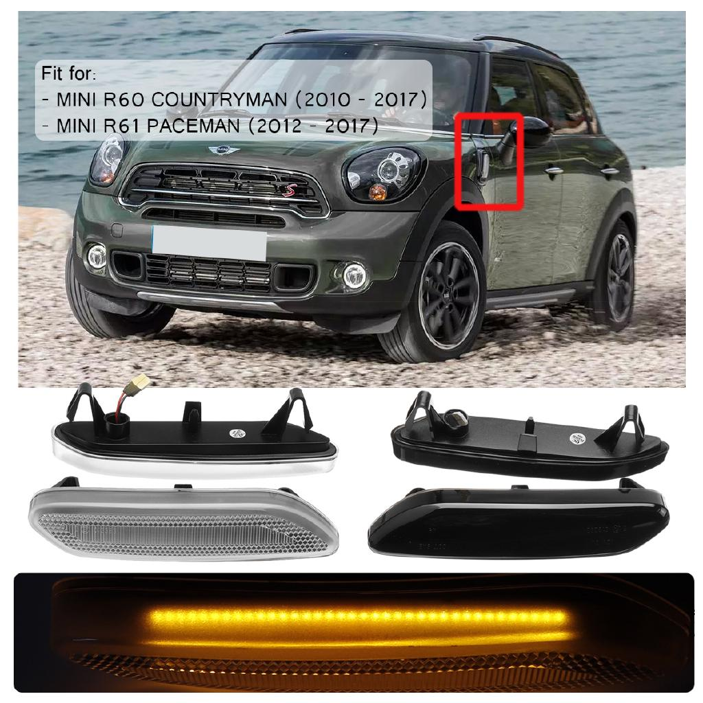 【GOOD QUALITY】2x LED Side Lights Repeater Fender Indicator For Mini Cooper  R60/R61 Countryman