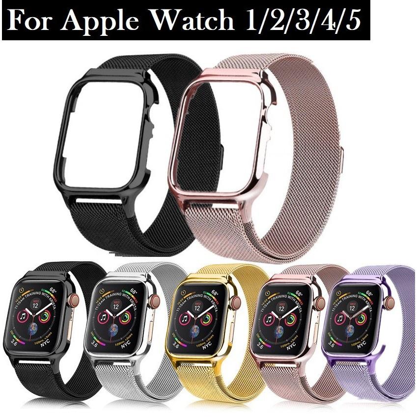 สาย applewatch สายนาฬิกา Apple Watch Straps เหล็กกล้าไร้สนิม สาย Applewatch Series 6 5 4 3 2,  Apple Watch SE size 38mm