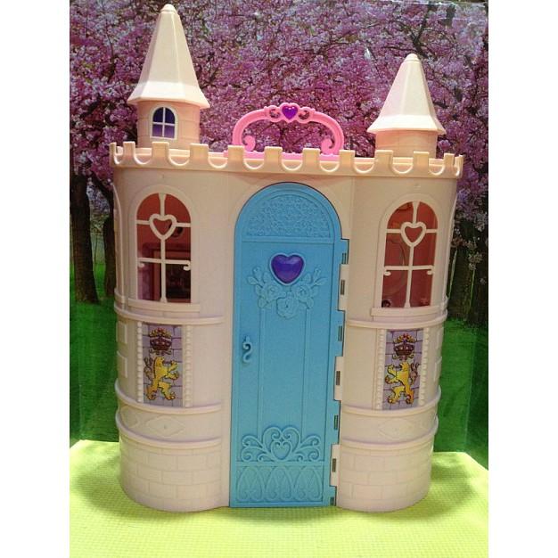 ปราสาทบาร์บี้ ปราสาทตุ๊กตา บ้านบาร์บี้ หลังใหญ่ พับได้ พกพาได้