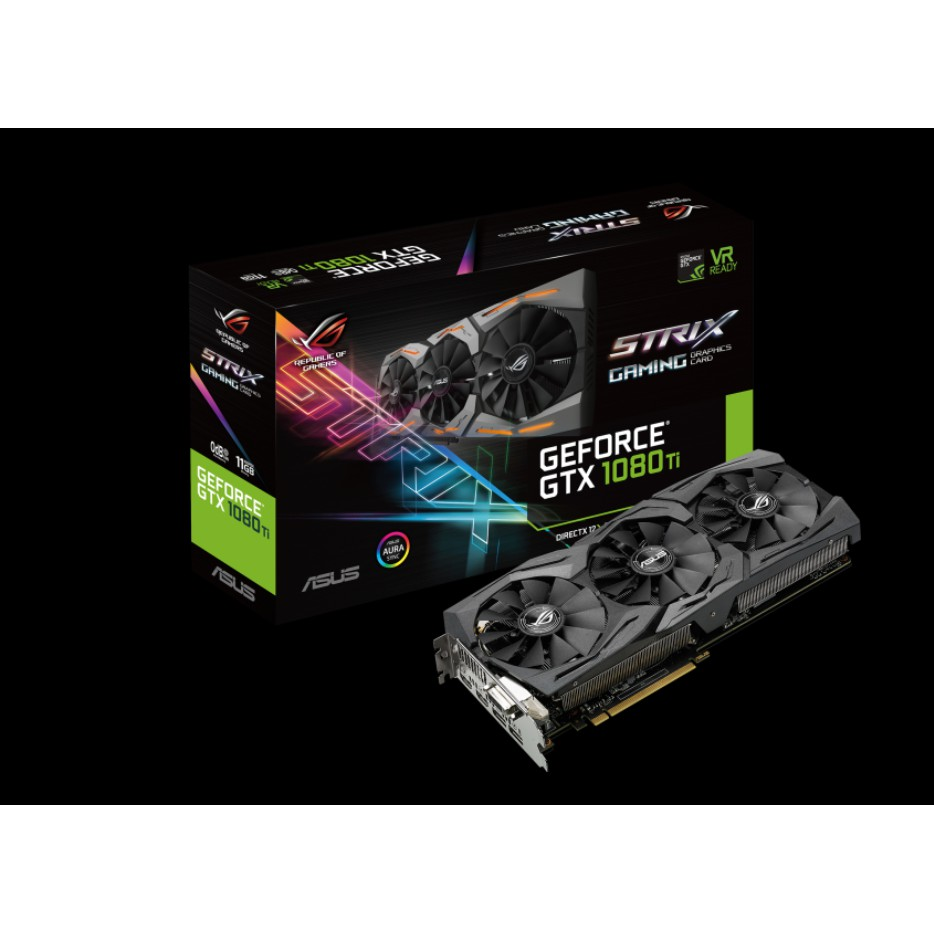 การ์ดจอROG-STRIX-GTX1080TI-11G-GAMING(nobox)