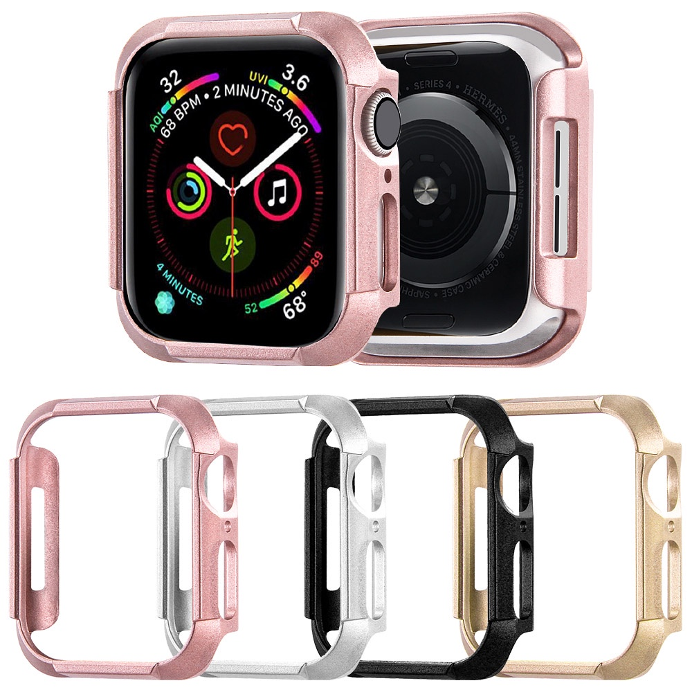 4 Colors PC Watch Case for Apple Watch SE Series 6 5 4 40mm 44mm Protector Cover Thin Bumper for iWatch Hard Frame Accessories