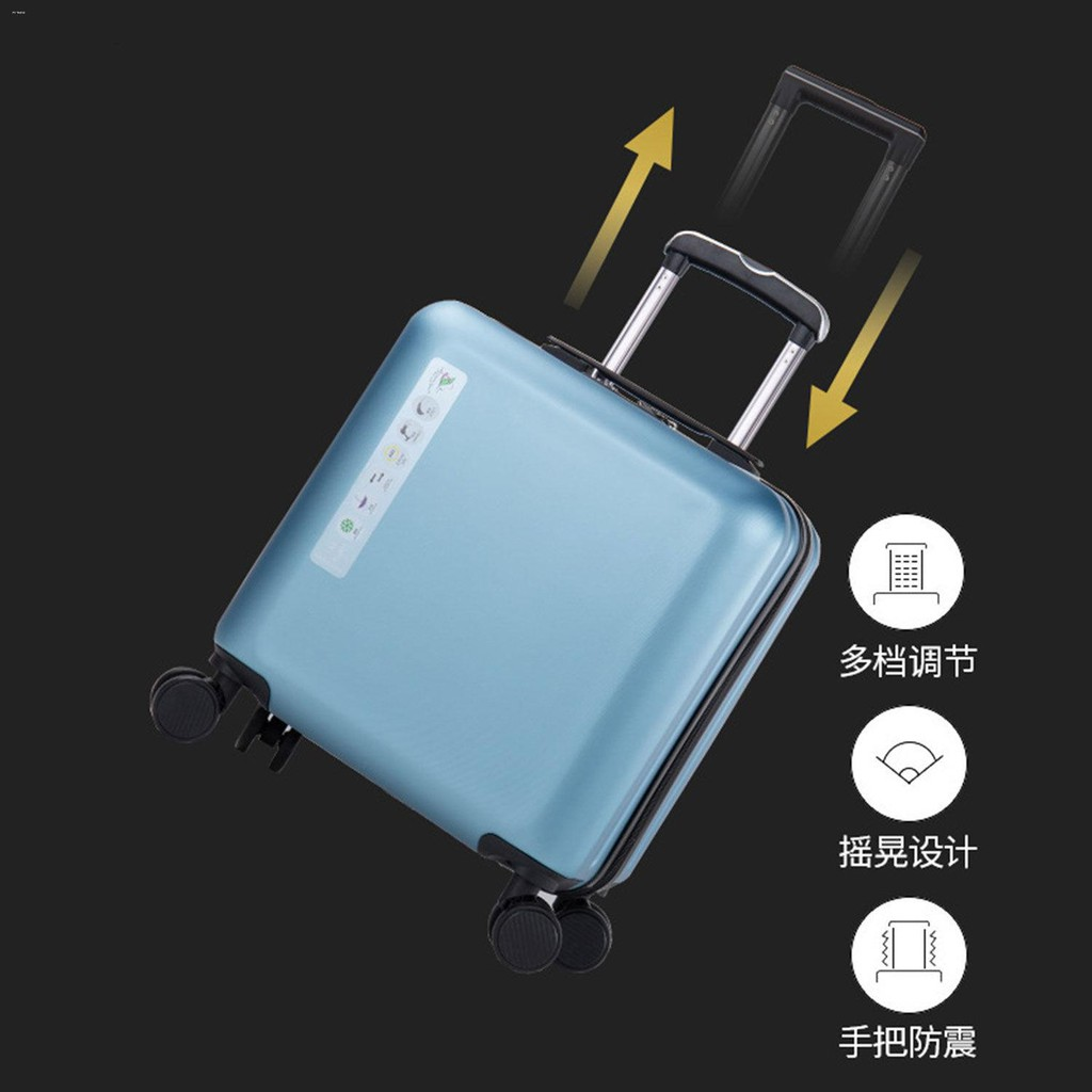 ♛♝กระเป๋าเดินทางสำหรับธุรกิจขนาดเล็กและน้ำหนักเบา กระเป๋าเดินทางสำหรับรถเข็นสำหรับสุภาพสตรีขนาด 18 นิ้ว ผู้ชาย 20 นิ้ว ร