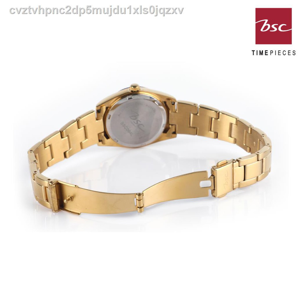 🔥มีของพร้อมส่ง🔥ลดราคา🔥☍♂BSC Watch นาฬิกาข้อมือผู้หญิง รุ่น 9064 - สีทอง