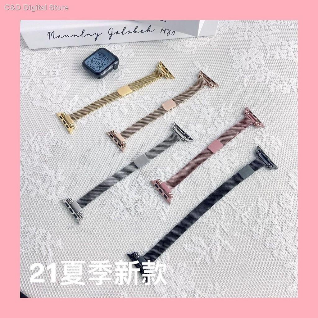 【อุปกรณ์เสริมของ applewatch】❇✱21 ใหม่ ใช้ได้กับสาย Applewatch เอวเล็กมิลานสายแม่เหล็ก Iwatch SE654321 รุ่น