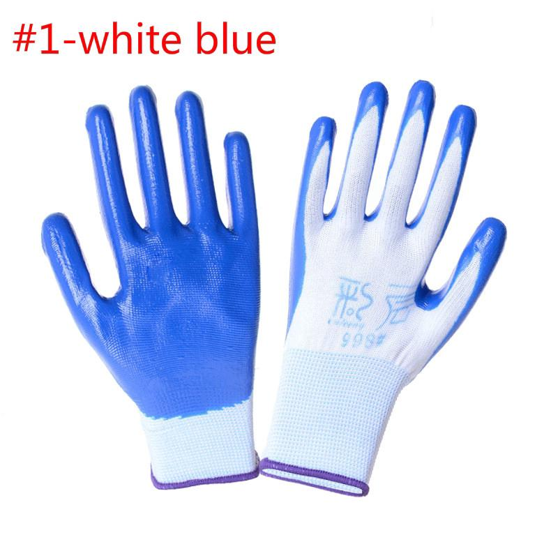 ถุงมือป้องกัน กันน้ำไม่ลื่น Non-slip Work Gloves Protective Garden Glove Nitrile Grip Wearable Coated Gloves