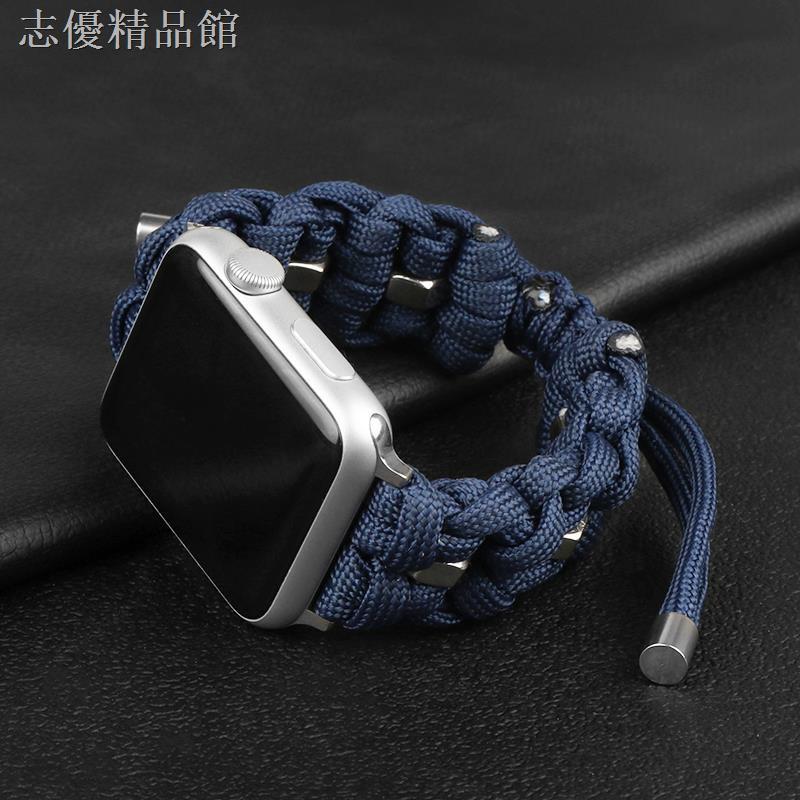 สายนาฬิกาข้อมือหนังถักสําหรับ Iwatch 6 / 5 / 4 / 3 / Se Tide Applewatch