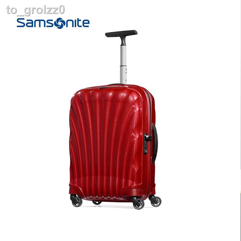 กระโปรงหลังรถ☏♠❈Samsonite/Samsonite กระเป๋าเดินทางแบบมีล้อลากแฟชั่น universal wheel รถเข็น 20 นิ้วขึ้น v22