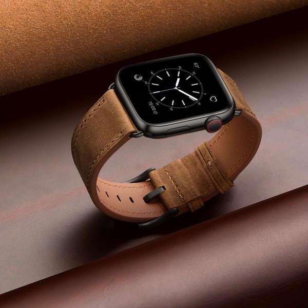 สาย applewatch ใช้ได้กับสาย Applewatch6 สายนาฬิกา Apple iwatch5 / 4/3/2 รุ่น 38/40/42 / 44mm หนังผู้ชายและผู้หญิงบุคลิกภ