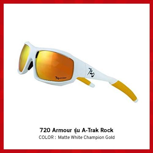 แว่นตาจักรยาน 720 Armour รุ่น A-Trak Rock สี Matte White Champion Gold
