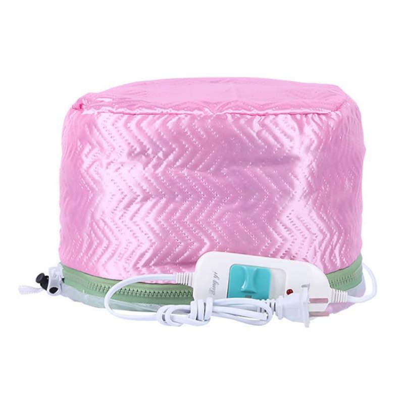super หมวกอบไอน้ำ สีชมพู หมวกอบไอน้ำระบบไฟฟ้า หมวกอบไอน้ำที่บ้าน