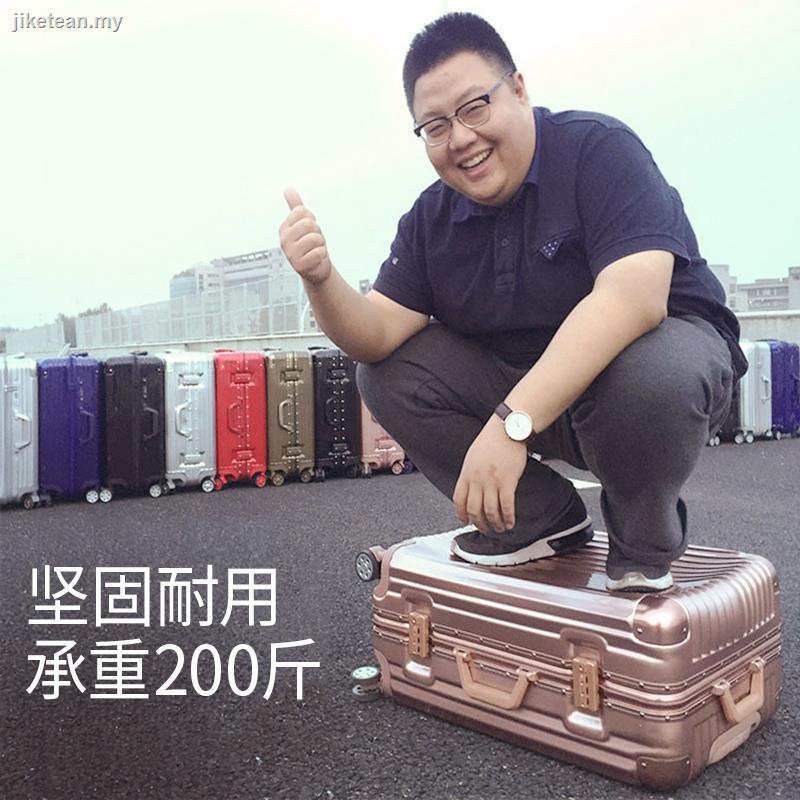กระเป๋าเดินทางล้อลากอลูมิเนียม 20 26 นิ้ว 24 นิ้วสําหรับผู้หญิงและผู้ชาย 28 นิ้ว